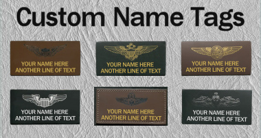 Custom military name tags for flight jackets and flight suits