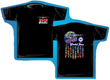 VR-55 World Tour T-Shirt from Plane Crazy Enterprises